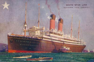 Twin-Screw RMS Adriatic of the White Star Line, C1907--Giclee Print