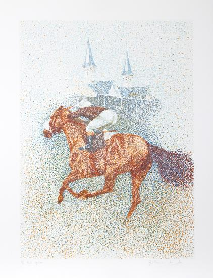 Twin Spires-Guillaume Azoulay-Serigraph