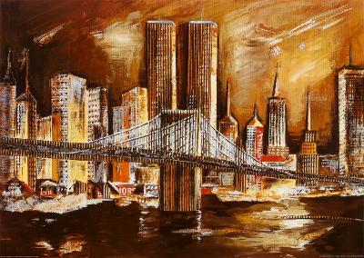 Twin Towers from the Hudson River-Andrea Lotte-Art Print