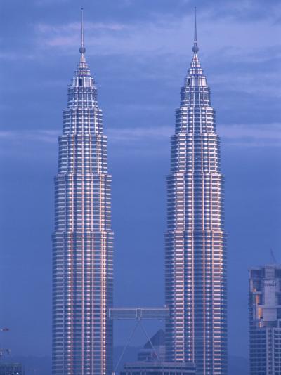 Twin Towers of the Petronas Building, Kuala Lumpur, Malaysia, Southeast Asia-Gavin Hellier-Photographic Print