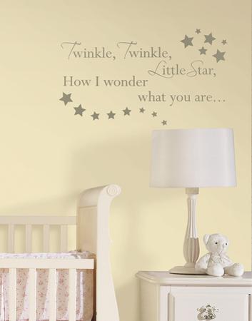 Twinkle, Twinkle Nursery Rhymes Wall Decal Sticker