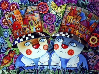Twins-Oxana Zaika-Giclee Print