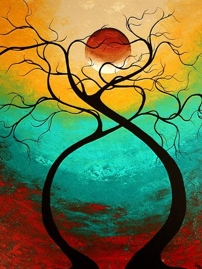 Twisting Love-Megan Aroon Duncanson-Art Print