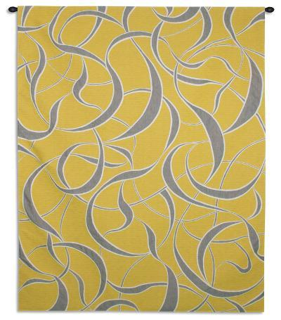 Twists and Turns Lemon--Wall Tapestry