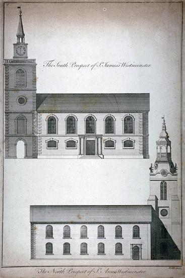 Two 17th Century London Churches, C1750-Benjamin Cole-Giclee Print