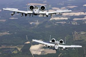 Two A-10C Thunderbolt Aircraft Near Moody Air Force Base, Georgia