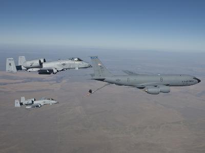 Two A-10C Thunderbolt's Prepare To Refuel from a KC-135 Stratotanker-Stocktrek Images-Photographic Print