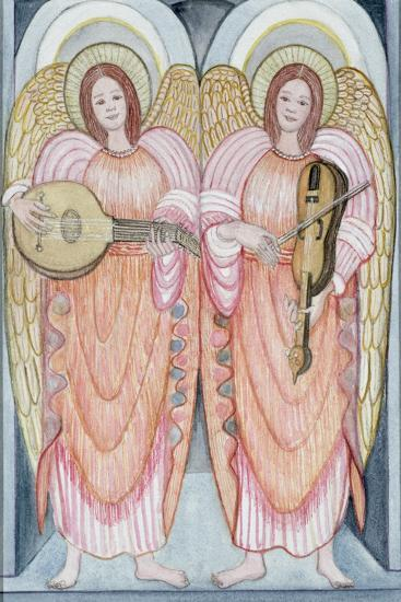 Two Angels Playing Instruments, 1995-Gillian Lawson-Giclee Print