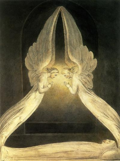 Two Angels Pray over Christ--Giclee Print