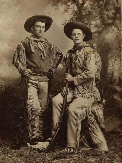Two Armed Full Dressed Frontier Scouts- Whittick-Art Print