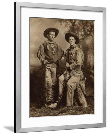 Two Armed Full Dressed Frontier Scouts- Whittick-Framed Art Print