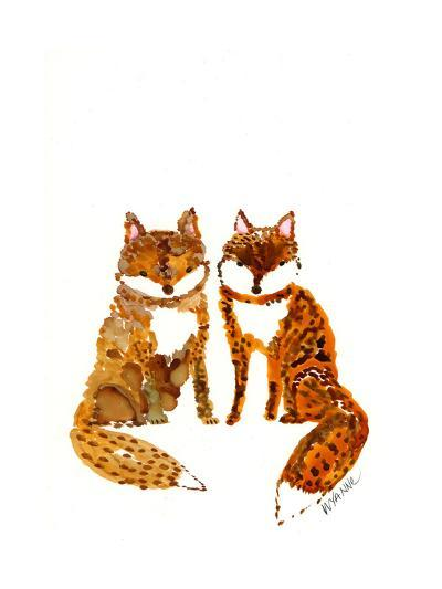 Two Baby Foxes-Wyanne-Giclee Print