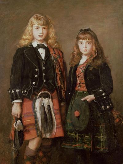 Two Bairns-John Everett Millais-Giclee Print