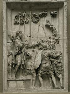 Two Barbarian Prisoners of the Marcomanic War Led Before Emperor Marcus Aurelius (161-180 CE)