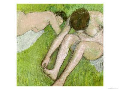 Two Bathers on the Grass, circa 1886-90-Edgar Degas-Giclee Print