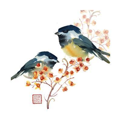 Two Birds on a Branch--Art Print