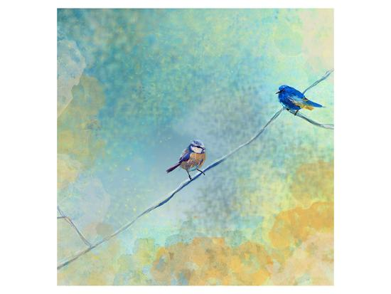 Two birds-Claire Westwood-Art Print