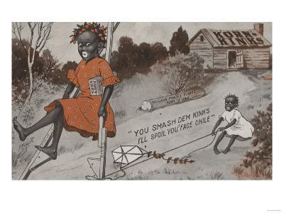 Two Black Girls Playing - Korn Kinks Advertisement-Lantern Press-Art Print