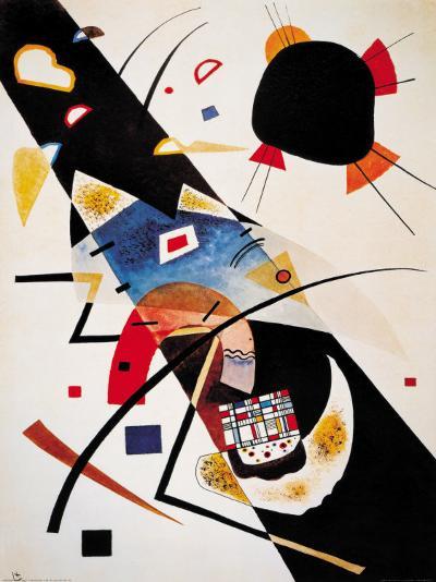 Two Black Spots-Wassily Kandinsky-Art Print