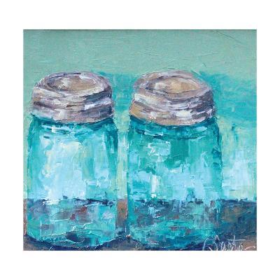 Two Blue Jars-Leslie Saeta-Art Print