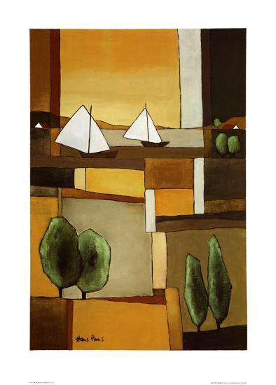Two Boats II-Hans Paus-Art Print