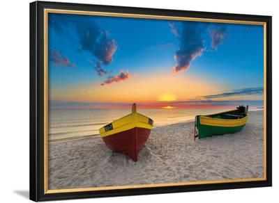 Two Boats-Maya Sokolovska-Framed Art Print