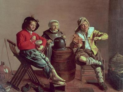 Two Boys and a Girl Making Music, 1629-Jan Miense Molenaer-Giclee Print