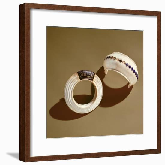 Two Bracelets, from the Tomb of Tutankhamun, New Kingdom-Egyptian 18th Dynasty-Framed Giclee Print