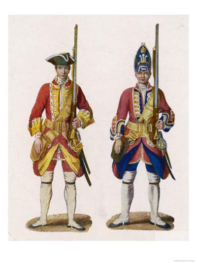 Two British Infantrymen--Giclee Print