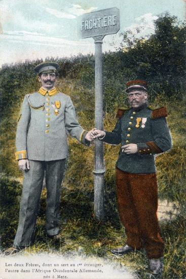 Two Brothers at the French and German Frontier, 20th Century--Giclee Print