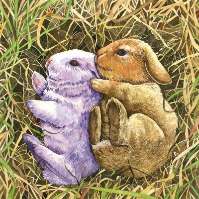 Two Bunnies-Wendy Edelson-Giclee Print
