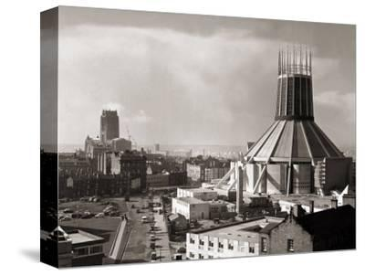 Two Cathedrals, Anglican and Catholic, Liverpool, March 1967