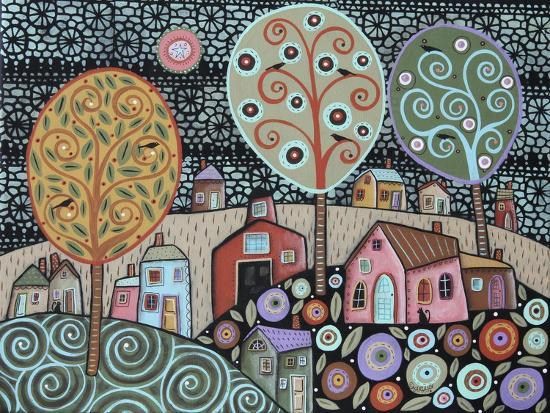 Two Cats Village 1-Karla Gerard-Giclee Print