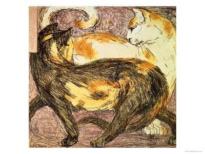 Two Cats-Franz Marc-Giclee Print
