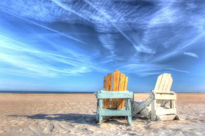 Two Chairs on the Beach-Robert Goldwitz-Photographic Print