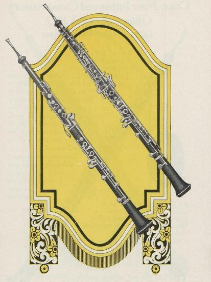 Two Charles Gerard Conn New Wonder Oboes--Giclee Print