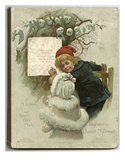 Two Children Dressed Warmly for a Snowy Winter's Day--Giclee Print