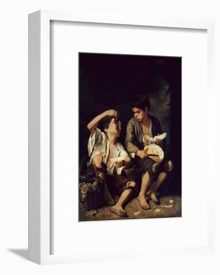 Two Children Eating a Melon and Grapes, 1650-Bartolome Esteban Murillo-Framed Giclee Print