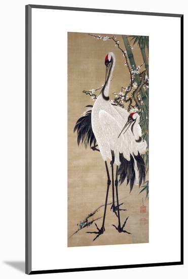 Two Cranes-Jakuchu Ito-Mounted Premium Giclee Print