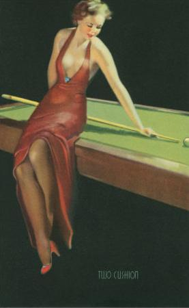 Two Cushion, Vamp Playing Pool