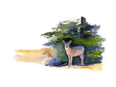 Two Deer, 2014-John Keeling-Giclee Print