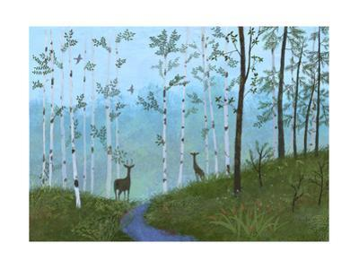 Two Deer on Forest Path