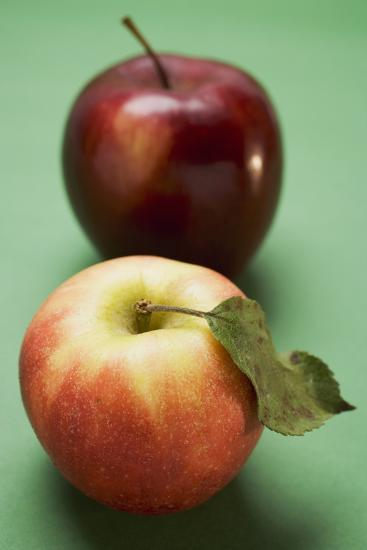 Two Different Apples (Varieties Elstar and Stark)-Foodcollection-Photographic Print