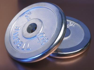 Two Dumbbell Weights for a Workout--Photographic Print