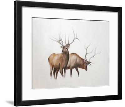 Two Elk-Jacqueline Neuwirth-Framed Art Print