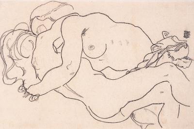 Two Embracing Female Nudes, 1918-Egon Schiele-Giclee Print