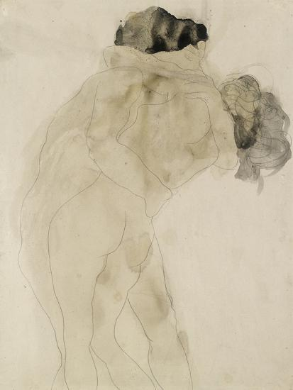 Two Embracing Figures-Auguste Rodin-Premium Giclee Print