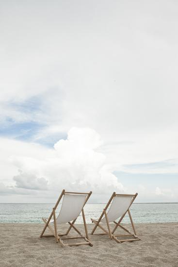 Two Empty Chairs on the Beach.-MoMo Productions-Photographic Print
