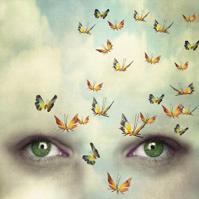 Two Eyes with the Sky and So Many Butterflies Flying on the Forehead-Valentina Photos-Photographic Print