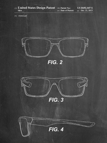 Two Face Prizm Oakley Sunglasses Patent-Cole Borders-Art Print